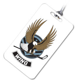 Hockey Bag/Luggage Tag Hockey Eagle (Wing)
