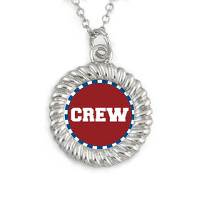 Braided Circle Necklace Crew Text