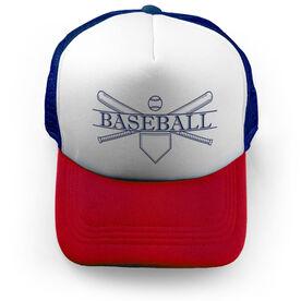Baseball Trucker Hat - Crest