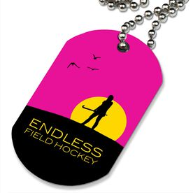 Endless Field Hockey Printed Dog Tag Necklace