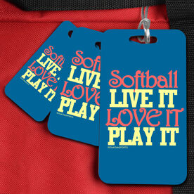 Softball Bag/Luggage Tag Softball Live It Love It Play It