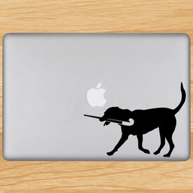 Field Hockey Dog Removable ChalkTalkGraphix Laptop Decal