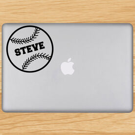 Personalized Baseball Removable ChalkTalkGraphix Laptop Decal