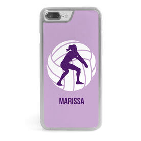 Volleyball iPhone® Case - Player Silhouette
