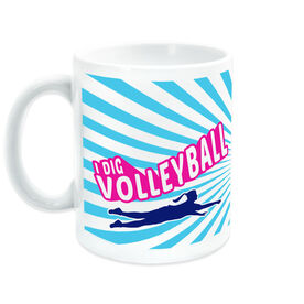 Volleyball Ceramic Mug I Dig Volleyball