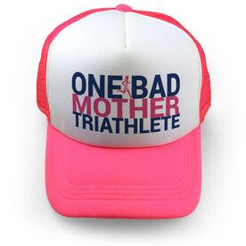 Triathlon Trucker Hat - One Bad Mother Triathlete