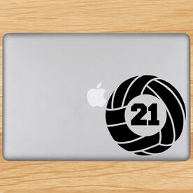 Volleyball Removable Laptop Decal Personalized Volleybal With Number