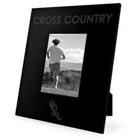 Cross Country Engraved Picture Frame - Simple Cross Country