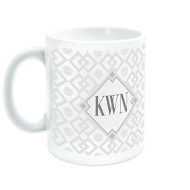 Volleyball Ceramic Mug Monogram Link Pattern