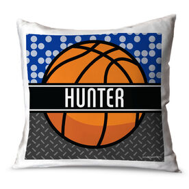 Basketball Throw Pillow Personalized 2 Tier Patterns With Basketball