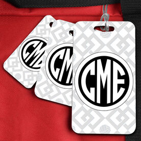 VolleyBall Bag/Luggage Tag Monogram with Volleyball Link Pattern