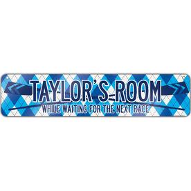 """Crew Aluminum Room Sign Personalized Crew Room (4""""x18"""")"""