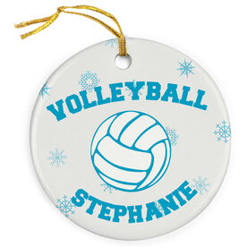 Volleyball Porcelain Ornament With Ball