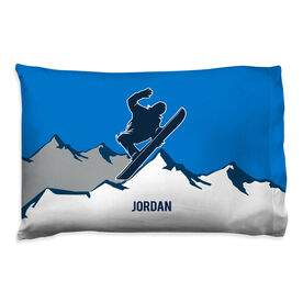 Snowboarding Pillowcase - Personalized Airborne