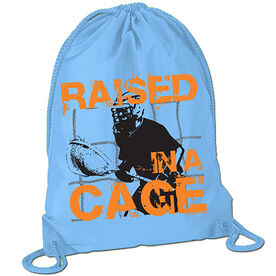 Raised in a Cage Lacrosse Sport Pack Cinch Sack
