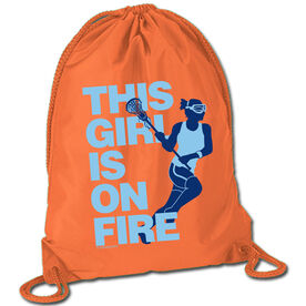 Lacrosse Sport Pack Cinch Sack This Girl Is On Fire