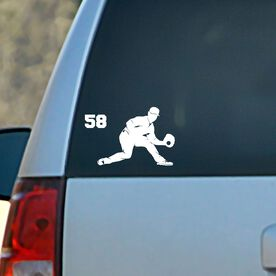 Baseball Vinyl Car Decal Personalized Fielder