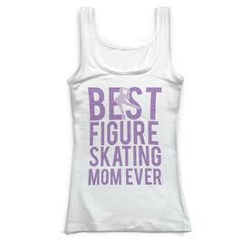 Figure Skating Vintage Fitted Tank Top - Best Figure Skating Mom Ever