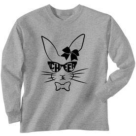 Cheer Tshirt Long Sleeve Hopster Cheer Bunny