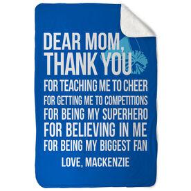 Cheerleading Sherpa Fleece Blanket Dear Mom