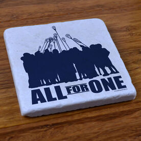 All for One (Blue) Lacrosse - Stone Coaster
