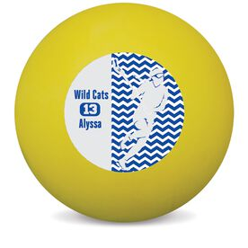Personalized Personalized Player With Name and Number Lacrosse Ball (Yellow Ball)