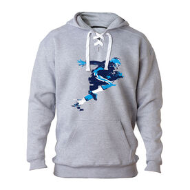 Football Sport Lace Sweatshirt In the Blur of A Moment