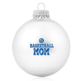 Basketball Glass Ornament Basketball Mom