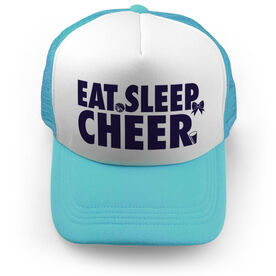 Cheerleading Trucker Hat - Eat Sleep Cheer