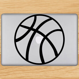 Basketball Ball Removable ChalkTalkGraphix Laptop Decal