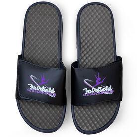 Gymnastics Navy Slide Sandals - Your Logo