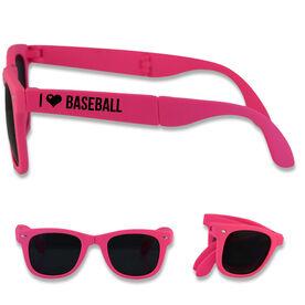 Foldable Baseball Sunglasses I Heart Baseball