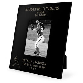 Softball Engraved Picture Frame - Player Stats