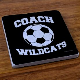 Soccer Stone Coaster Personalized Soccer Coach Soccer Ball