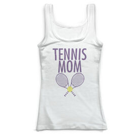 Tennis Vintage Fitted Tank Top - Tennis Mom