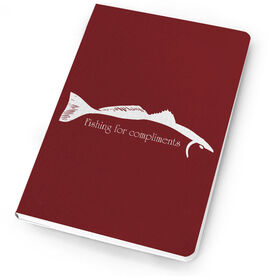 Fly Fishing Notebook Redfish Silhouette