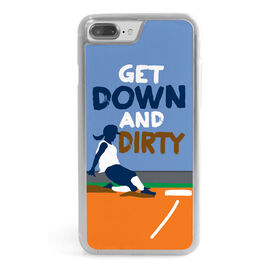 Softball iPhone® Case - Get Down and Dirty
