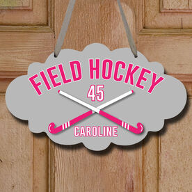 Field Hockey Cloud Sign Personalized Field Hockey with Crossed Sticks