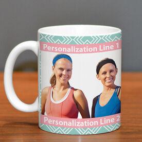 Skiing Ceramic Mug Custom Photo with Pattern