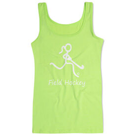 Field Hockey Women's Athletic Tank Top Stick Figure With Word