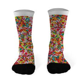 Softball Printed Mid Calf Socks Sprinkles