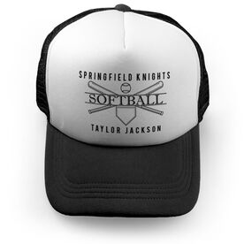 Softball Trucker Hat - Personalized Crest