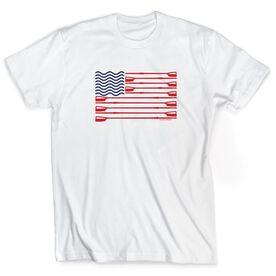 Crew Tshirt Short Sleeve Crew American Flag