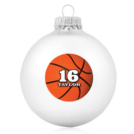 Basketball Glass Ornament Personalized Basketball