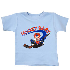 Hockey Baby and Puck T-shirt