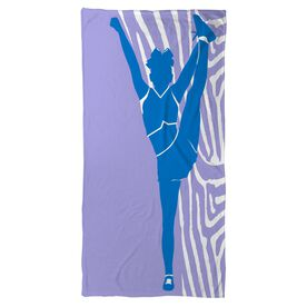Cheer Beach Towel Girl with Zebra Stripes