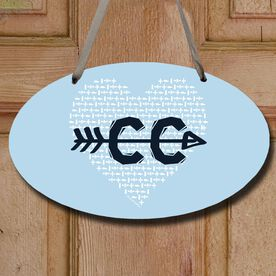 Cross Country Decorative Oval Sign Cross Country Love