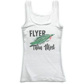 Fly Fishing Vintage Fitted Tank Top - Flyer Than Most