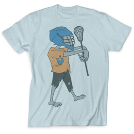 Guys Lacrosse Vintage T-Shirt - Zombie