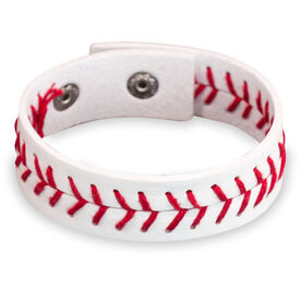 Authentic Baseball Leather Bracelet